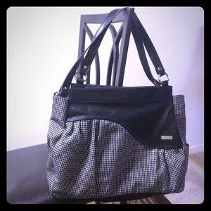 Black and White Miche Handbag